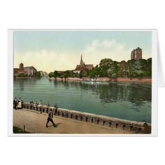 Breslau, from the hotel, Breslau, Silesia, Germany Card