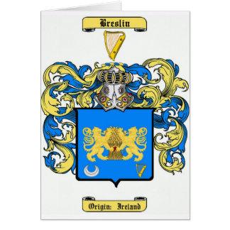breslin tarjeta de felicitación