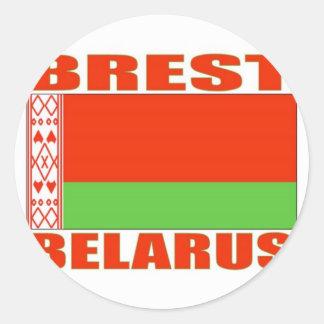 Brest, Belarus Classic Round Sticker