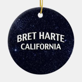 Bret Harte California Christmas Ornament