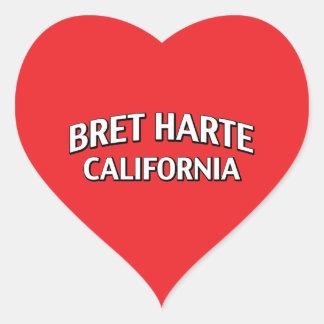 Bret Harte California Heart Stickers