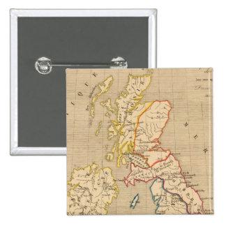 Bretagne apres l'invasion des Saxons 2 Inch Square Button