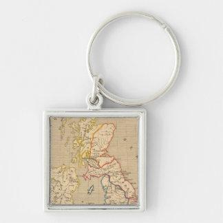 Bretagne apres l'invasion des Saxons Silver-Colored Square Keychain