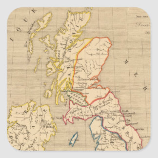 Bretagne apres l'invasion des Saxons Square Sticker
