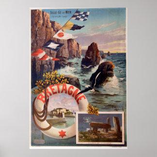 Bretagne - Belle Ile en Mer Bretagne Poster