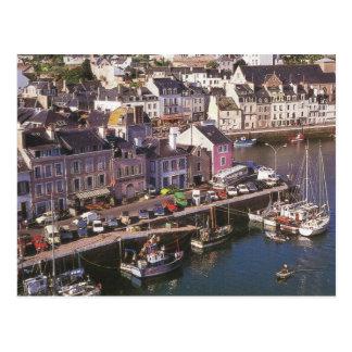 Bretagne, Belle Ile en Mer, Yachts, fishing boats Postcard