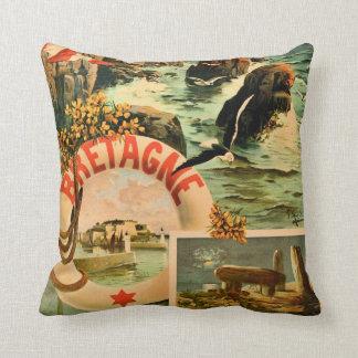Bretagne Brittany Hugo d'Alesi 1895 French travel Pillow