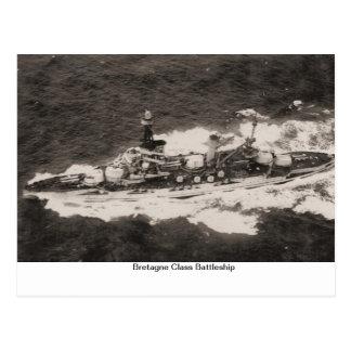 Bretagne class battleship built 1913 postcards