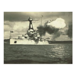 Bretagne class battleship, built 1913 postcard