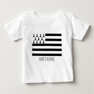 Bretagne flag with name baby T-Shirt