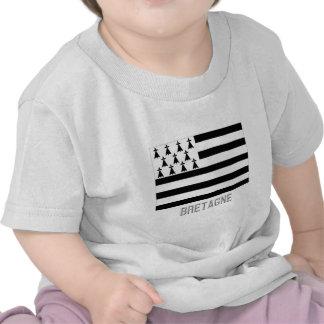 Bretagne flag with name t shirts