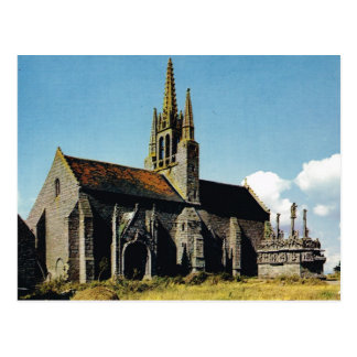Bretagne, Thoneon, Church and calvary Postcard