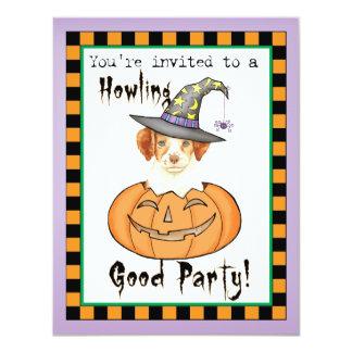 """Bretaña Halloween Invitación 4.25"""" X 5.5"""""""