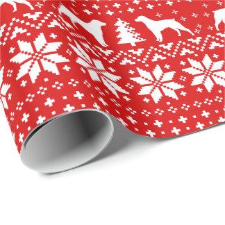 Bretaña siluetea rojo del modelo del suéter del papel de regalo