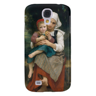 Breton Brother and Sister - William Bouguereau Samsung Galaxy S4 Cover