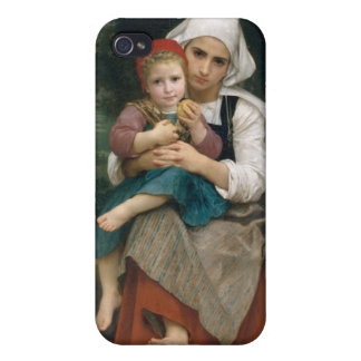 Breton Brother and Sister - William Bouguereau iPhone 4/4S Cases