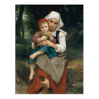 Breton Brother and Sister - William Bouguereau Postcard