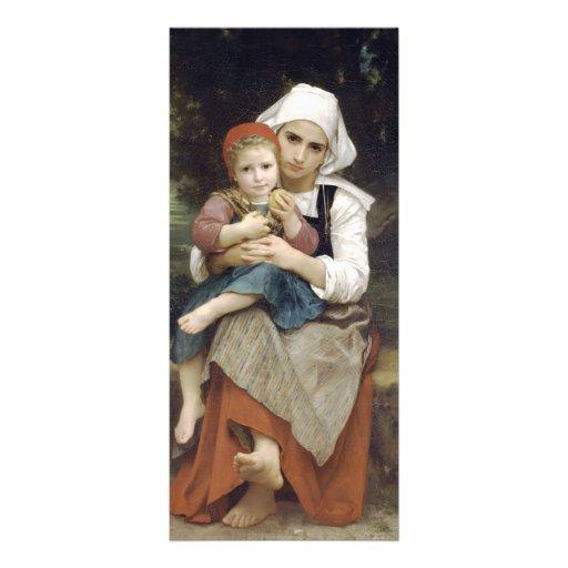 Bretón Brother de Guillermo Bouguereau- y hermana Plantilla De Lona