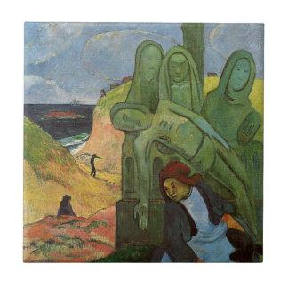 Bretón de Calvaire de Paul Gauguin Azulejo Cuadrado Pequeño