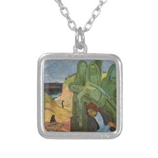 Bretón de Calvaire de Paul Gauguin Colgante Cuadrado