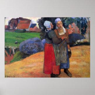 Bretón Famers de Eugène Enrique Paul Gauguin Impresiones