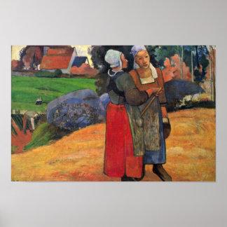 Breton Farmers By Gauguin Paul (Best Quality) Poster