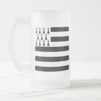 Breton Flag Beer Glass Frosted Glass Beer Mug