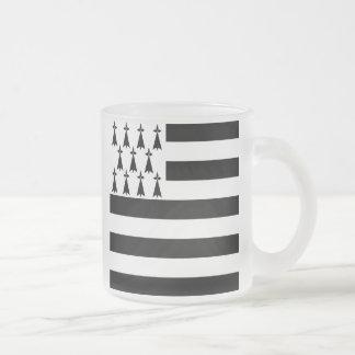 Breton Flag Frosted Beer Mug