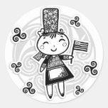 Breton girl stickers