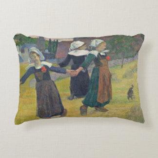 Breton Girls Dancing, Pont-Aven, 1888 Decorative Pillow