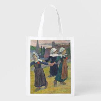 Breton Girls Dancing, Pont-Aven, 1888 Reusable Grocery Bag