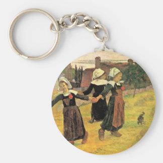 Breton Girls Dancing Pont-Aven By Paul Gauguin Keychain