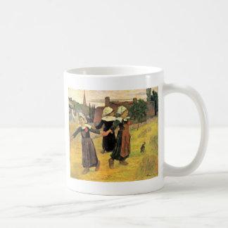 Breton Girls Dancing Pont-Aven By Paul Gauguin Classic White Coffee Mug