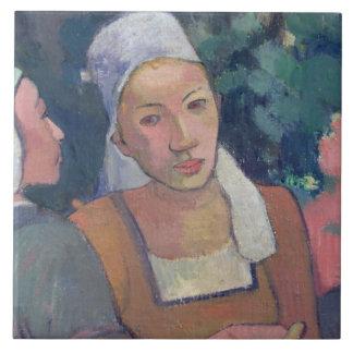 Breton Peasants, 1894 (oil on canvas) Ceramic Tile