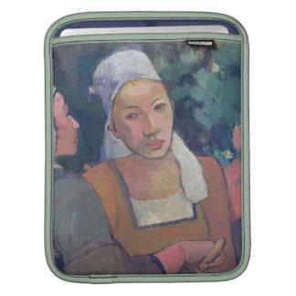 Breton Peasants, 1894 (oil on canvas) iPad Sleeve