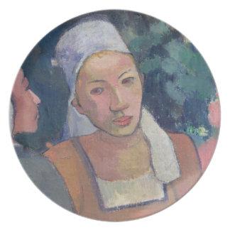 Breton Peasants, 1894 (oil on canvas) Dinner Plates