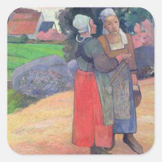 Breton Peasants, 1894 Square Sticker