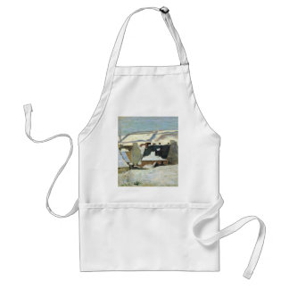 Breton Village In The Snow By Gauguin Paul Adult Apron