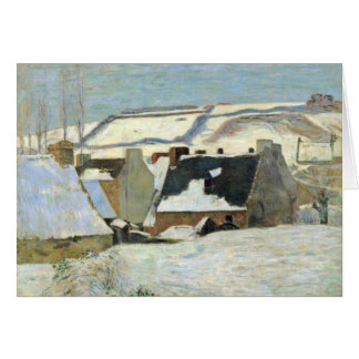 Breton Village In The Snow By Gauguin Paul Greeting Card