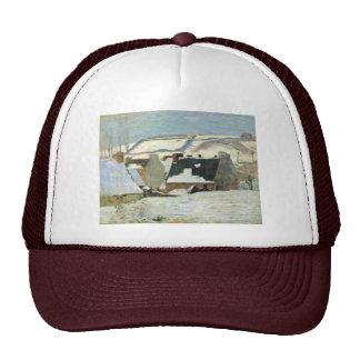 Breton Village In The Snow By Gauguin Paul Hats