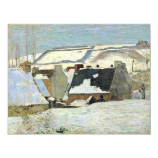 Breton Village In The Snow By Gauguin Paul Invite