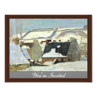 Breton Village In The Snow By Gauguin Paul Personalized Announcements