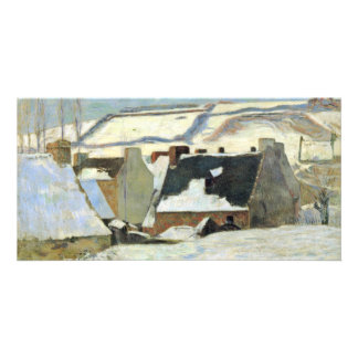 Breton Village In The Snow By Gauguin Paul Personalized Photo Card