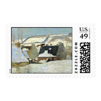Breton Village In The Snow By Gauguin Paul Postage