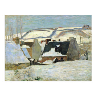 Breton Village In The Snow By Gauguin Paul Post Card