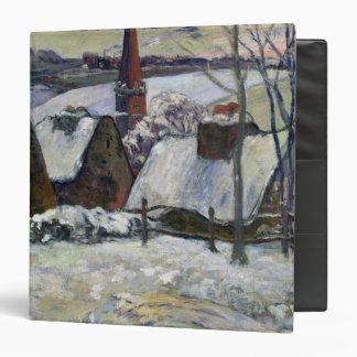 Breton village under snow, 1894 3 ring binder