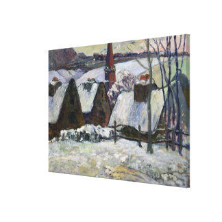 Breton village under snow, 1894 canvas print