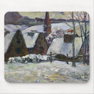 Breton village under snow, 1894 mouse pad
