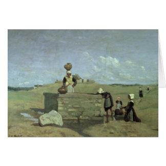 Breton Women at the Well near Batz, c.1842 Card