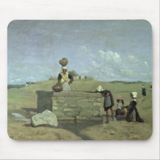 Breton Women at the Well near Batz, c.1842 Mouse Pad